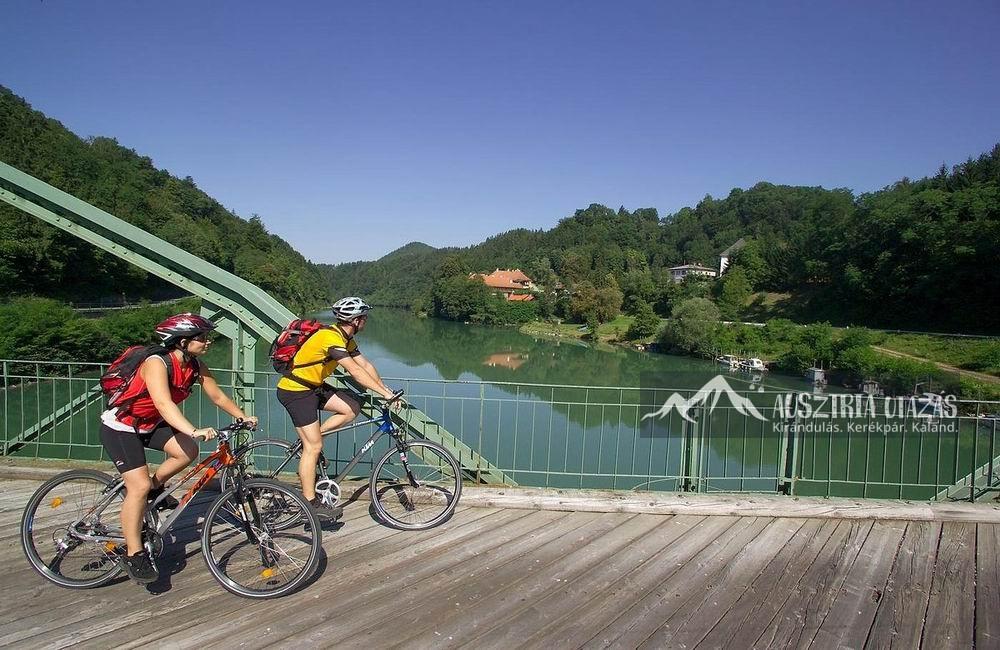 5 csillagos kerékpárúton a Dráva mentén