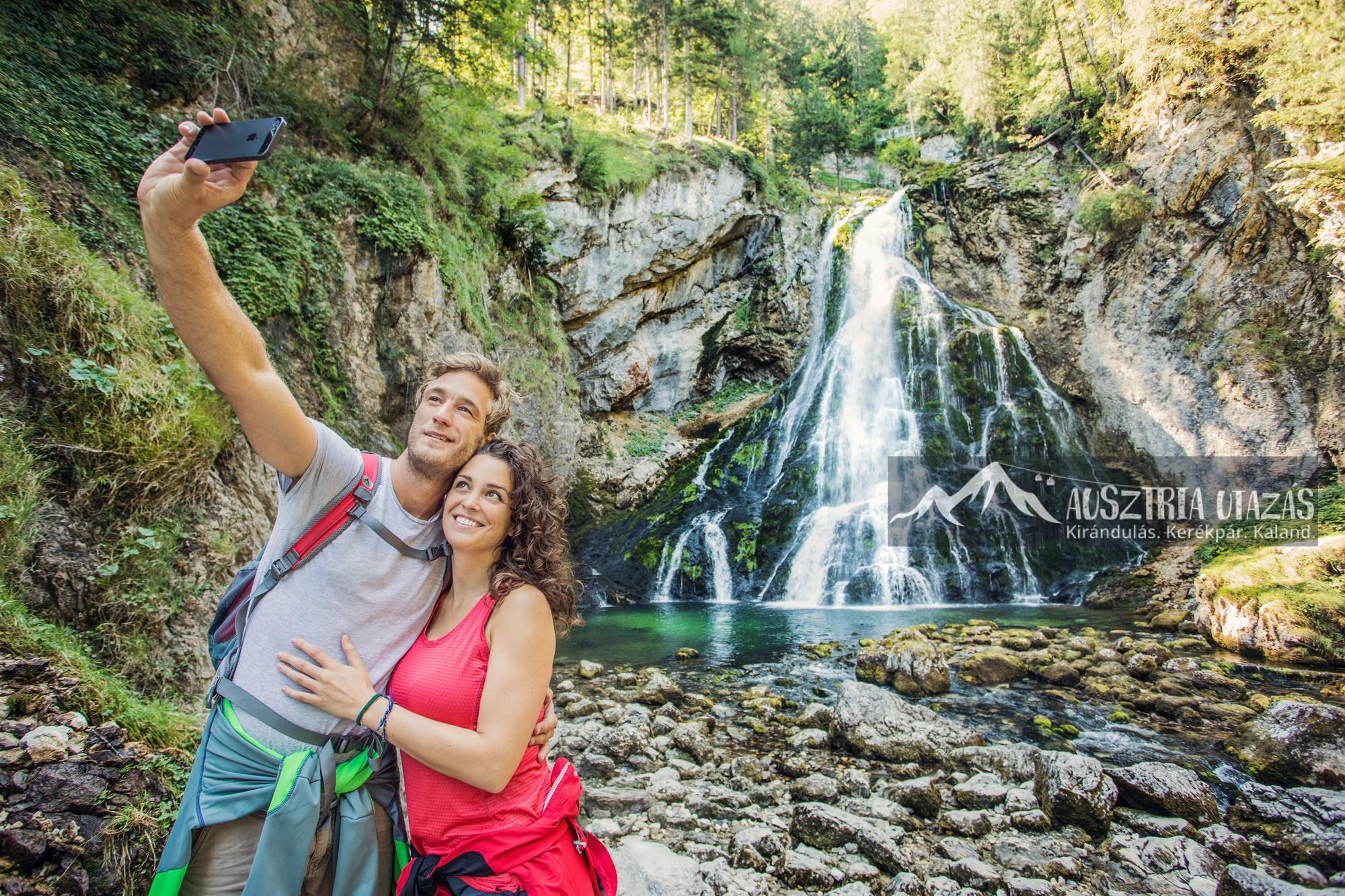 Golling vízesés selfie